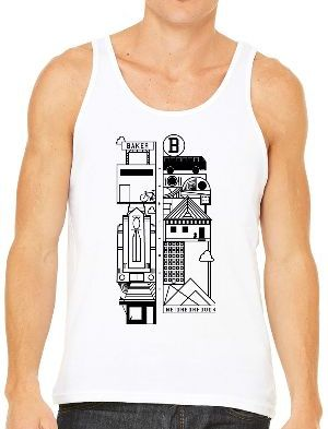 Men's White Tank Top